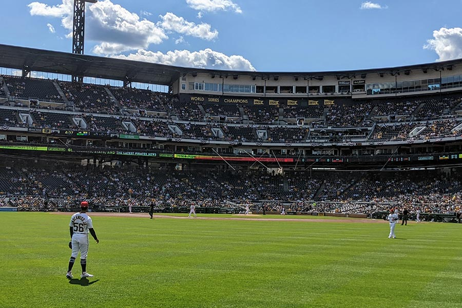 Taking in a Pittsburgh Pirates game.