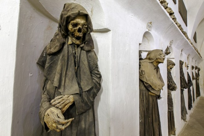 Oria, Italy, mummified members of a confraternity of death full size