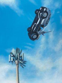 "Matt Adrian ""Las Palmas"" 12 x 16 inches acrylic on wood panel"