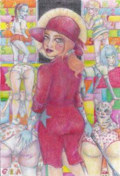 GEA* – Discipline color pencil, 8×12″