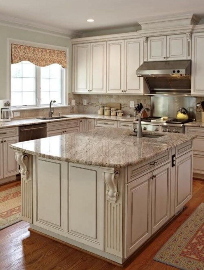 25 Antique White Kitchen Cabinets Ideas That Blow Your ...