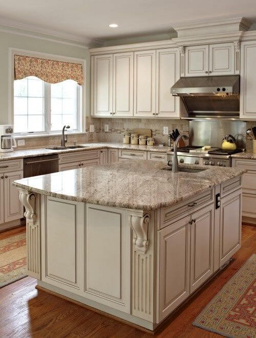 Genial Antique White Kitchen Cabinets