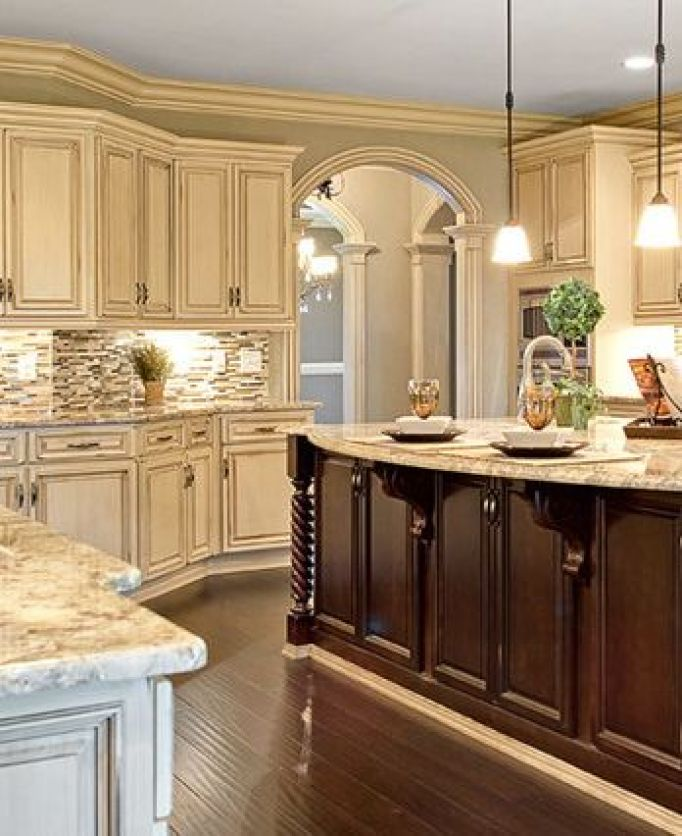 White Kitchen Cabinet Colors: ≫25 Antique White Kitchen Cabinets Ideas That Blow Your