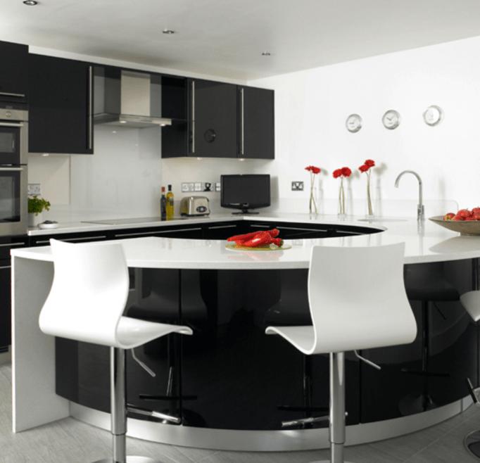 Black White Kitchen Backsplash Ideas: 20+ Fancy Design Ideas For Black And White Kitchen