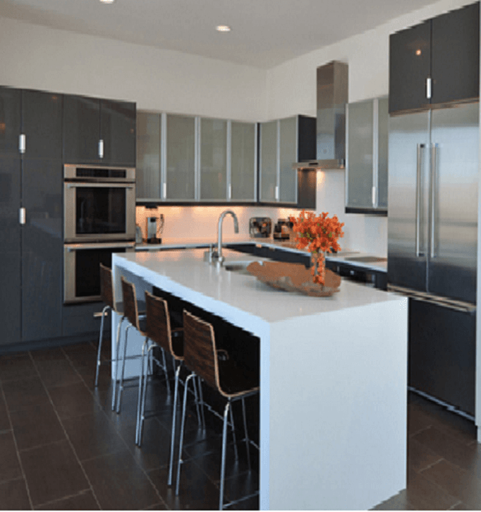 elegant metal steel of kitchen modern photos stainless cabinets design gallery attractive