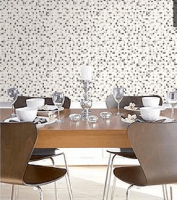 kitchen wallpaper brick effect