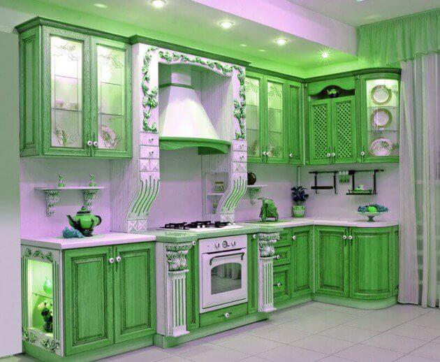 green kitchen - Green Kitchen Cabinets