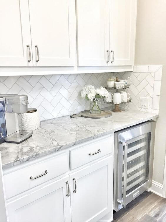 Granite Countertops White Cabinets. Distressed Kitchen Cabinets