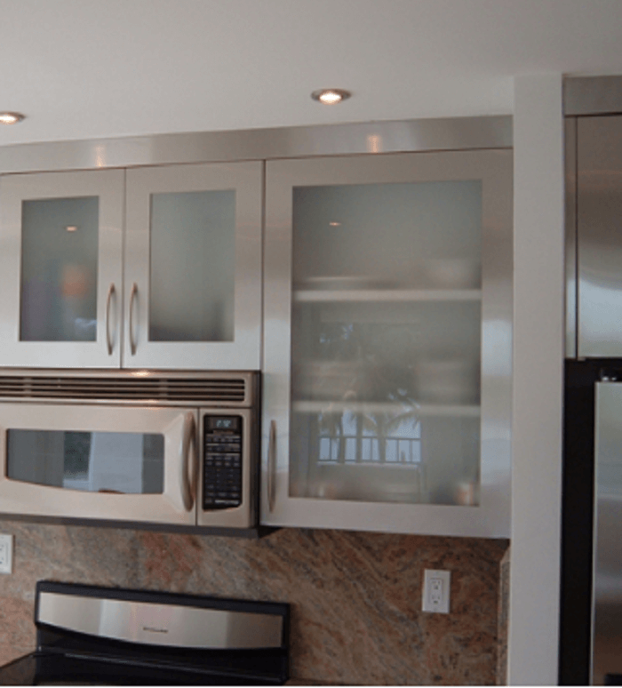 Metal Glass Kitchen Cabinets