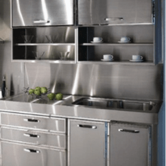 Metal Cabinets Kitchen Commercial Island 30 Ideas Style Photos Remodel And Decor Retro
