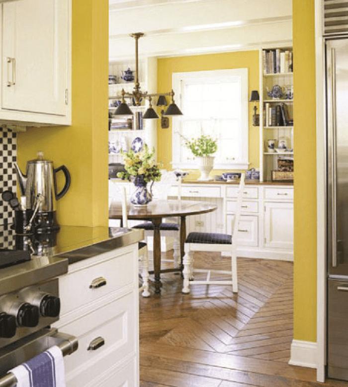Retro Yellow Kitchen Design