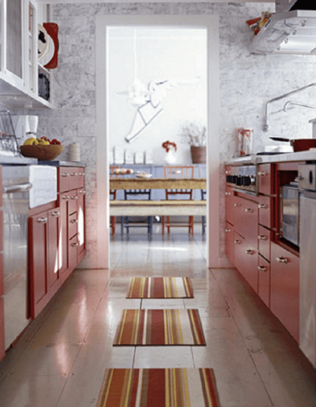 Red Galley Kitchen Ideas