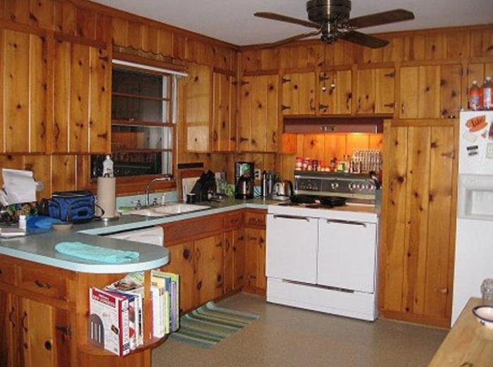 pine cabinets kitchen