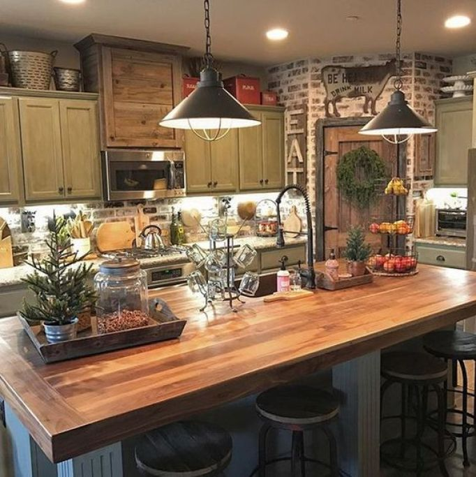 Farm Style Kitchen: 15 Rustic Kitchen Cabinets Designs Ideas With Photo Gallery