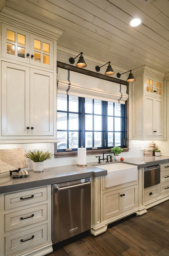 Bon Simple White Kitchen Cabinets. Antique White Cabinets