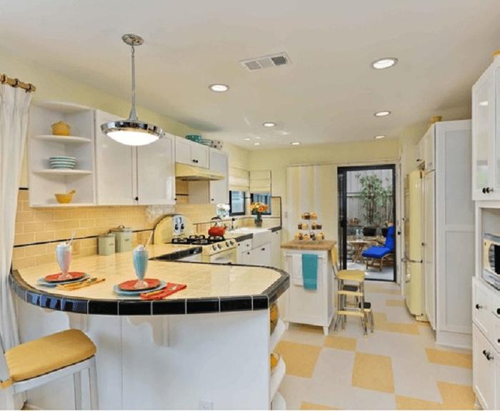 Warm Yellow Retro Kitchen Ideas