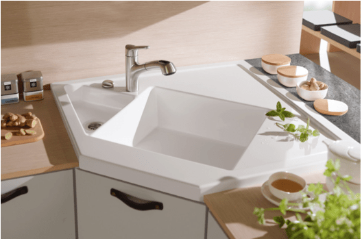 Kitchen Sinks Ideas Part - 21: Sinks The Appealing Corner Sink Ideas