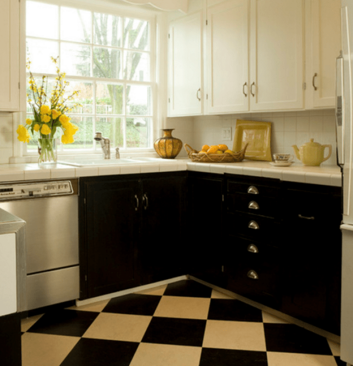 20+ Fancy Design Ideas For Black And White Kitchen