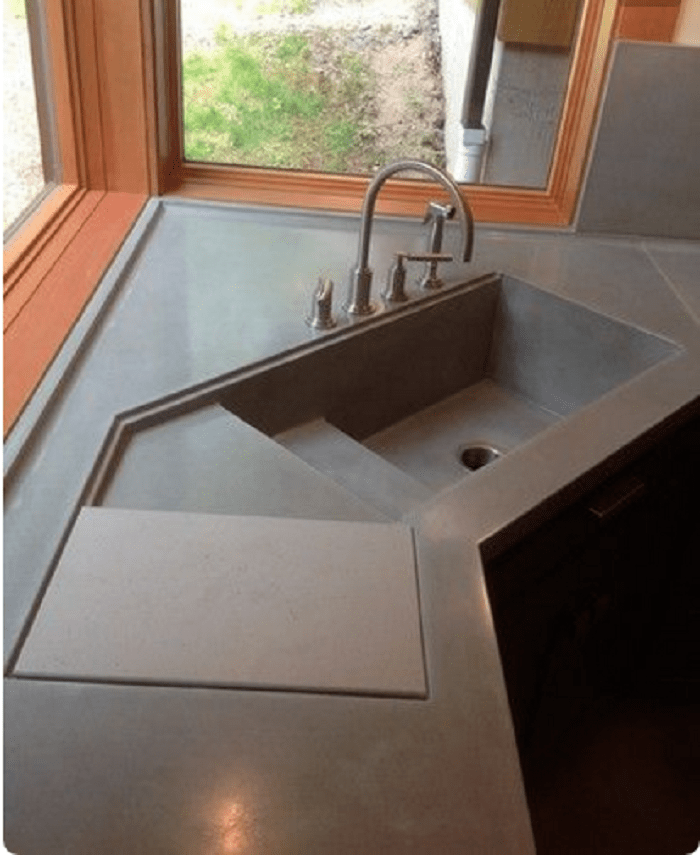 Modern Corner Kitchen Sink Design