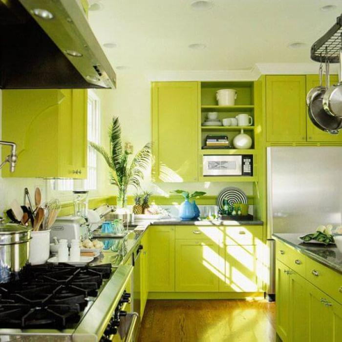 Lime Green Kitchen Cabinets