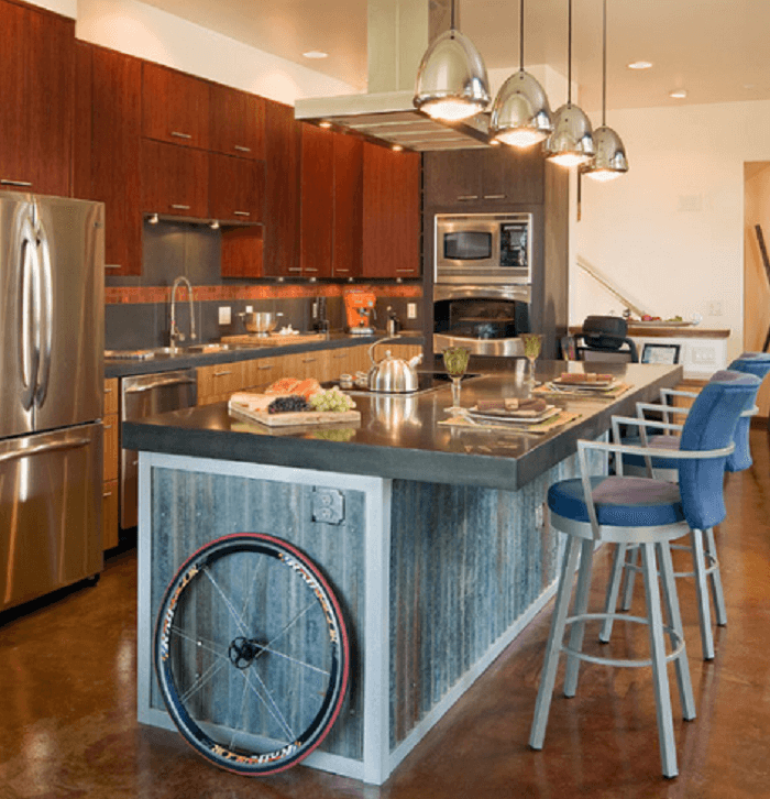 young metal kitchen cabinet