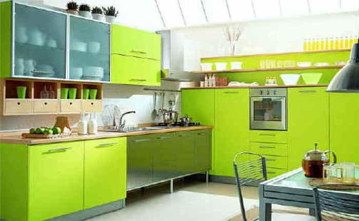 neon green kitchen cabinets ideas - Green Kitchen Cabinets