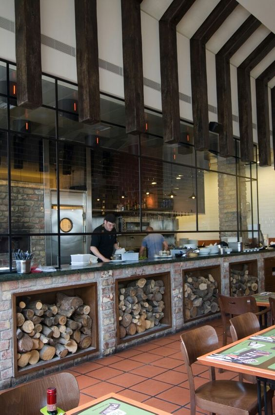 Open Kitchen Design Restaurant Woods
