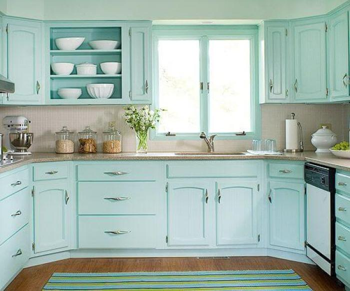 Seafoam Green Kitchen Cabinets