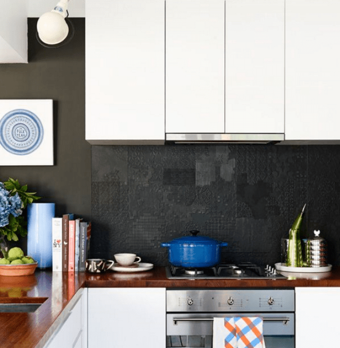 Black Benchtop Kitchen Designs: 40 Best Design Kitchen Splashback Ideas & Backsplash Kitchen