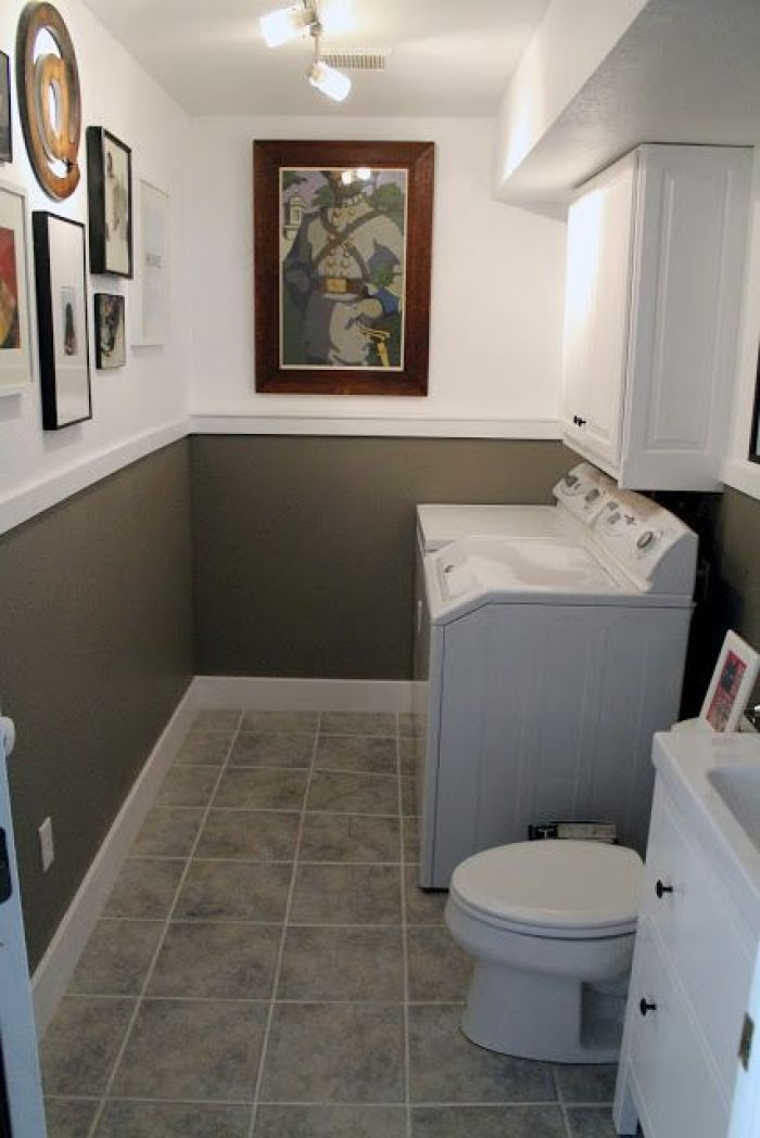 bathroom and laundry room combo