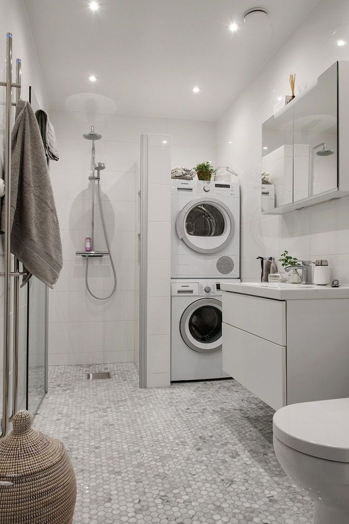 22 amazing basement laundry room ideas that ll make you love for Laundry bathroom floor plans