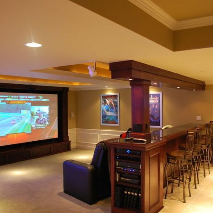 15 Awesome Basement Home Theater Cinema Room Ideas: 27 Cool Basement Home Theater, Ready To Entertain