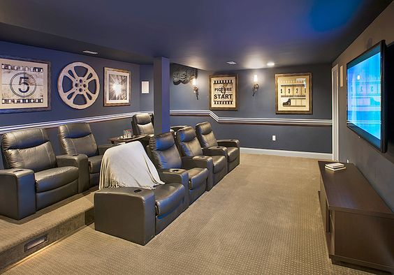 Captivating Basement Home Theater Design