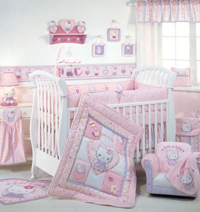 Bedroom Ideas Hello Kitty Soft Bedroom Colors Childrens Turquoise Bedroom Accessories Bedroom Decorating Ideas Gray And Purple: The Cutest Kittilicious Room Ideas To Decorate Your Girls