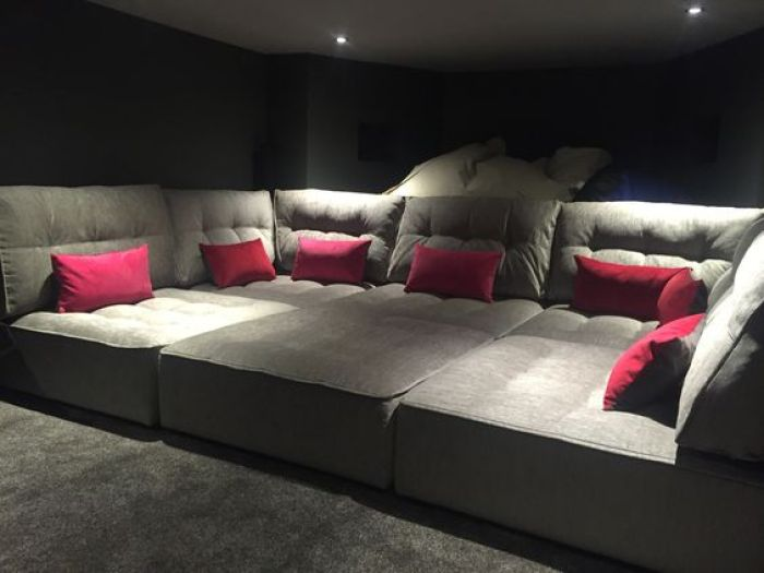 House Theater Basement Seating Ideas