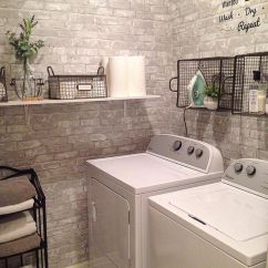 Kitchen Backsplash Rolls Black And White Towels 22 Amazing Basement Laundry Room Ideas That'll Make You Love