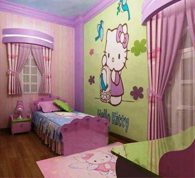 Paint Ideas for Girl Bedroom Hello Kitty