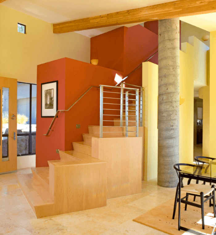 20 Attractive Painted Stairs Ideas