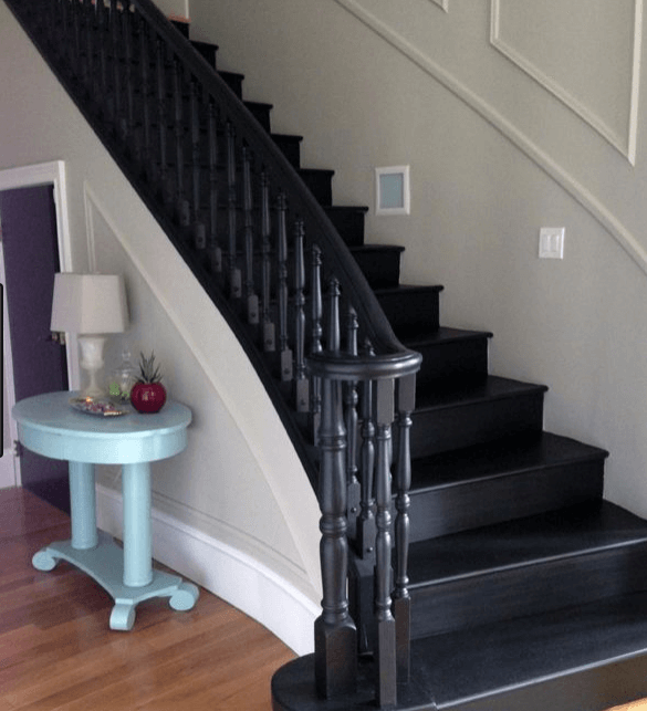 Exceptional Painted Stairs Part - 2: Black Stairs