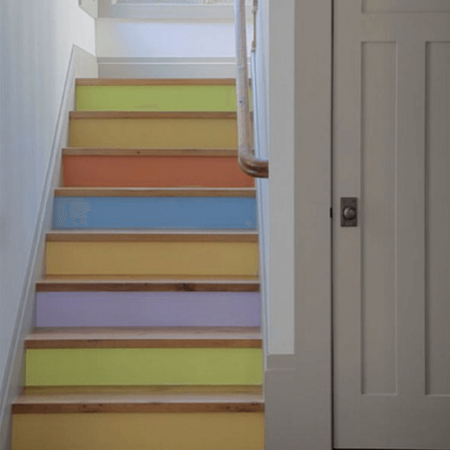 21 Attractive Painted Stairs Ideas Pictures: 20 Attractive Painted Stairs Ideas
