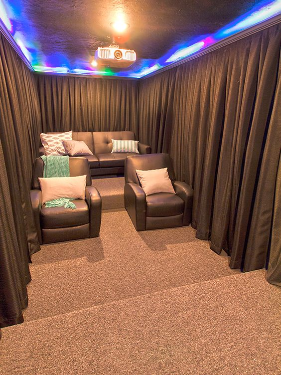 Small Home Theater Ideas Part - 23: Small Basement Home Theater Ideas. Cellar Bar As Well As Home Theater