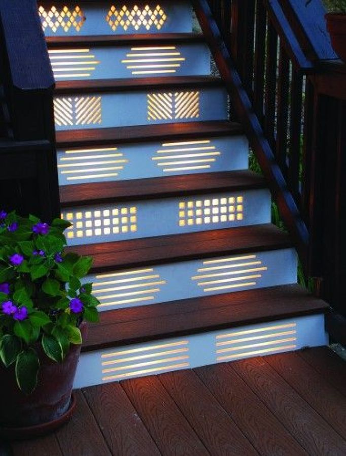 Deck Stairway Lighting Concepts