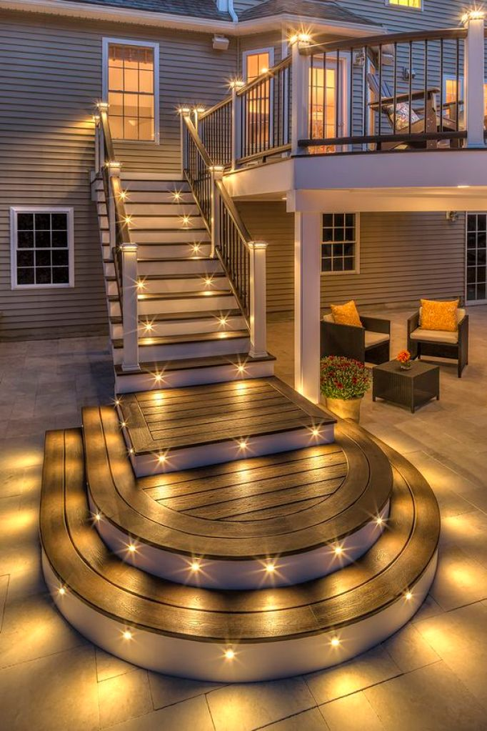 Exterior Stairway Step Light