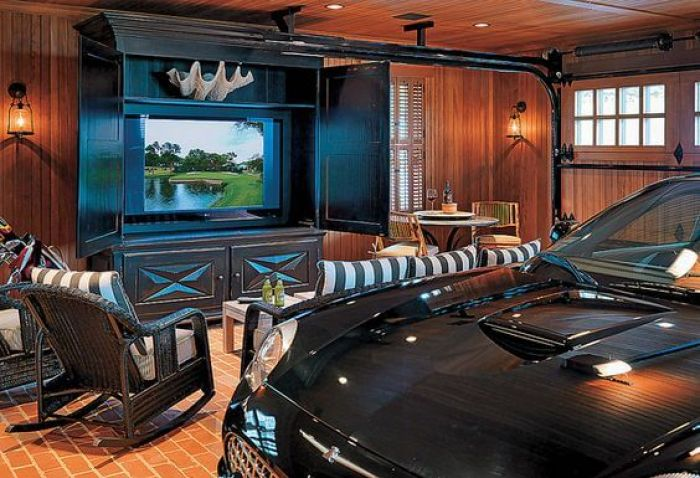Garage with Male Living Space Ideas