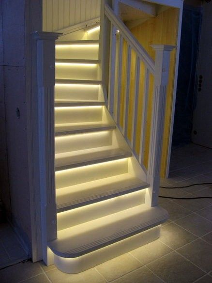 Interior stairway lighting Low Voltage Led Stair Lights Indoor Reverbsfcom 20 Futuristic Lighting Ideas To Install Luminous Lights For