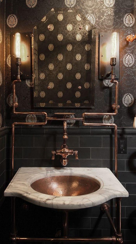 21 Elegant Steampunk Bathroom Ideas Reverb