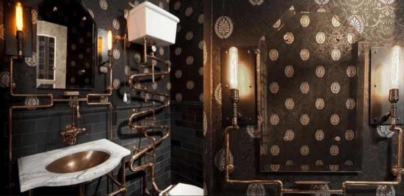 21 elegant steampunk bathroom ideas reverb rh reverbsf com Steampunk Kitchen Farmhouse Bathroom Ideas