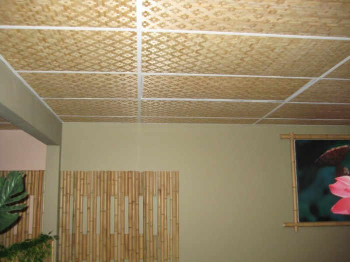 Woven Bamboo Ceiling
