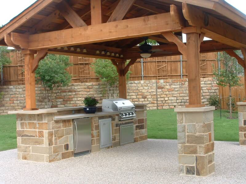 outside kitchen designs freestanding cabinet 12 amazing outdoor ideas and inspiration reverb rustic design