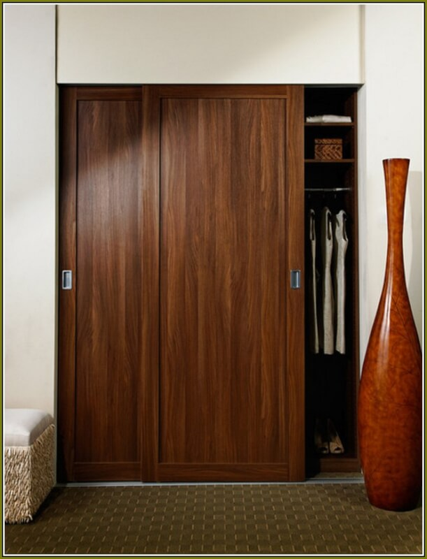 Gentil Wood Sliding Closet Doors